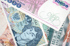 Old Polish banknotes Stock Image