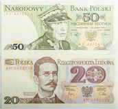 Old Polish banknotes money Royalty Free Stock Photos