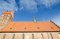 Old Polish basilica Royalty Free Stock Photography