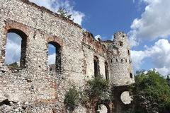 Old polish castle ruins Royalty Free Stock Photo