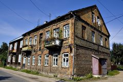 Old Polish house. Old typical Polish houses (Bialystok, Poland Stock Image