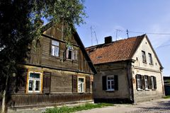Old Polish houses 2. Old typical Polish houses (Bialystok, Poland Royalty Free Stock Photo