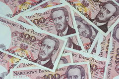 Old polish money background Royalty Free Stock Images