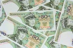 Old polish money background Stock Photography