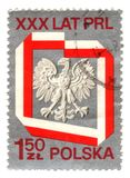 Old polish stamp with eagle Stock Photo