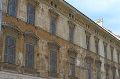 Old Polish Tenement House. /town house stock photo