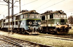 Old Polish trains Royalty Free Stock Image