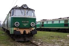 Old Polish trains Stock Photos