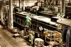 Old Polish trains Royalty Free Stock Photos