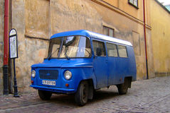 Old Polish Van. Parked in street Stock Photography