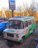 Old Polish van Nysa parked in Gdansk, Poland Stock Photos