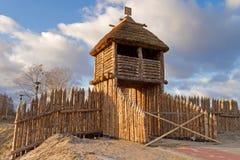 Old polish village. Wall in Pruszcz Gdanski Stock Image