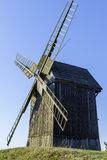 Old Polish windmill in Lednogora. Old windmills in Lednogóra, Poland stock photo
