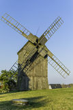 Old Polish windmill in Lednogora. Old windmills in Lednogóra, Poland royalty free stock photos