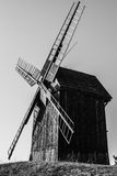 Old Polish windmill in Lednogora. Old windmills in Lednogóra, Poland stock photos