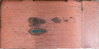 Old polished copper plate Royalty Free Stock Photography