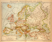 Old political Map of Europe Stock Images