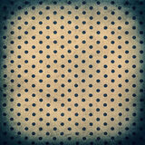 Old polka dot paper texture. Vintage grunge background Royalty Free Stock Photography