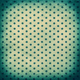 Old polka dot turquoise paper texture. Vintage grunge background Royalty Free Stock Photos