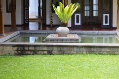 Old Pond. In colonial house in Sri Lanka Royalty Free Stock Photos