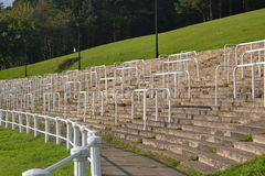 Old pontypool rugby stands Stock Photo