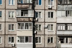 Old, poor, cheap housing. Royalty Free Stock Photos
