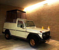 Old Popemobile (Italian: Papamobile) Stock Photo