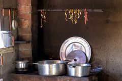 Old popular brazilian kitchen and utensils royalty free stock photos