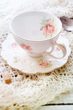 Old porcelain cup Stock Photos
