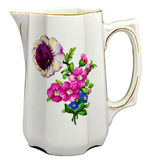 Old porcelain mug with flowers royalty free stock photos