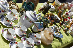 Old porcelain tableware for sale in Nice, France Stock Photos