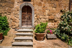 Old porch in Tuscany. Italy Royalty Free Stock Images