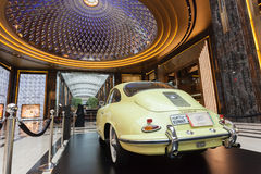 Old Porsche in The Avenues Mall, Kuwait. Old Porsche at the classic cars exhibition inside of The Avenues Mall in Kuwait. December 10, 2014 in Kuwait City Royalty Free Stock Photos