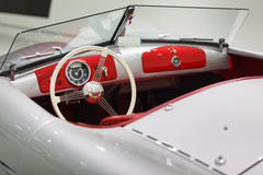 Old Porsche Carrera Cabriolet interriour Stock Photography