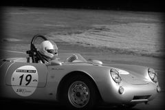 Old Porsche spyder at Le Mans Royalty Free Stock Images