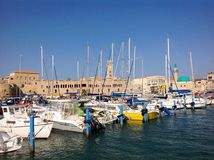 Old port in Akko, Israel Stock Images