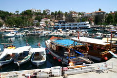 Old port in Antalya Stock Photos
