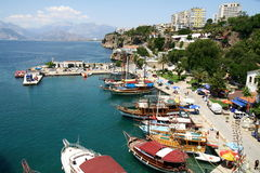 Old port in Antalya Stock Photos