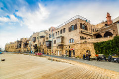 Old port buildings in Yafo, Israel Stock Images