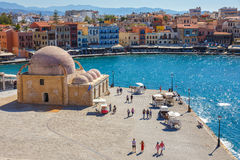 Old port of Chania on Crete, Greece. Chania is the second largest city of Crete. Royalty Free Stock Image