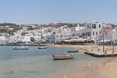 The old port of Chora, Mykonos, Greece Royalty Free Stock Image