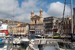 Old port and church of St John the Baptist in Bast Royalty Free Stock Photography