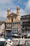 Old port and church of St John the Baptist in Bast Stock Photography