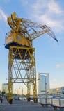 Old port crane Stock Images