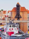 Old Port Crane in Gdansk, Poland Royalty Free Stock Photography