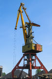 Old port crane Royalty Free Stock Images