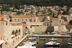 Old port and Dominican monastery. Dubrovnik. Croatia Royalty Free Stock Image