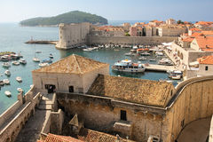 Old port. Dubrovnik. Croatia Royalty Free Stock Image