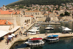 Old port. Dubrovnik. Croatia Stock Image
