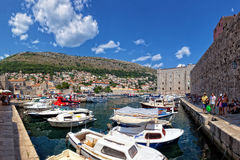 Old Port of Dubrovnik, Croatia Stock Images
